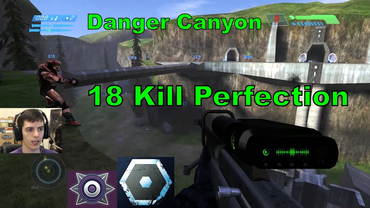 18 Kill Perfection on Danger Canyon - Halo CE [1080p 60fps]