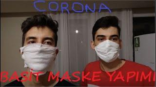 Evde CORONA Maskesi Yapmak Sıfır Maliyet (FIRSATÇILARA İZİN VERMEYİN)