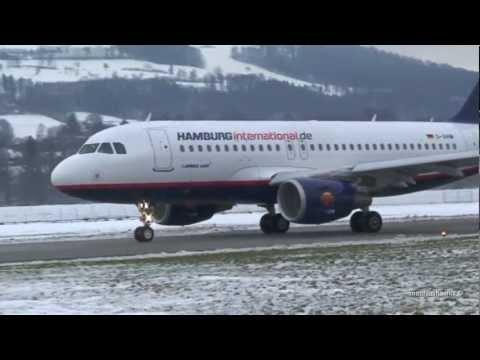 Impressive Airbus Take-Offs at Airport Bern-Belp