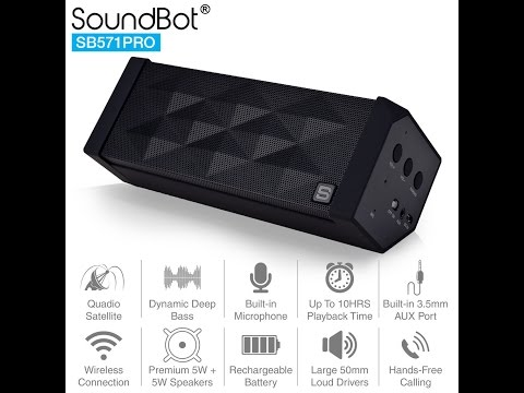 How to pair up to 4 units of bluetooth wireless speaker with SoundBot Quadio