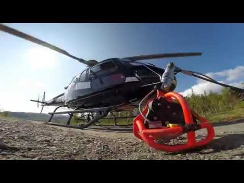 Helicopter PowerLine building Northern-Norway