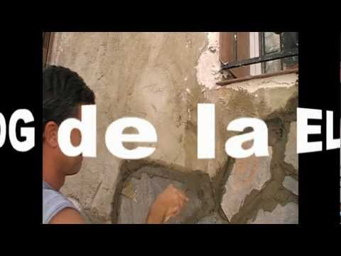 Como colocar piedra en la pared youtube for Como colocar piedra