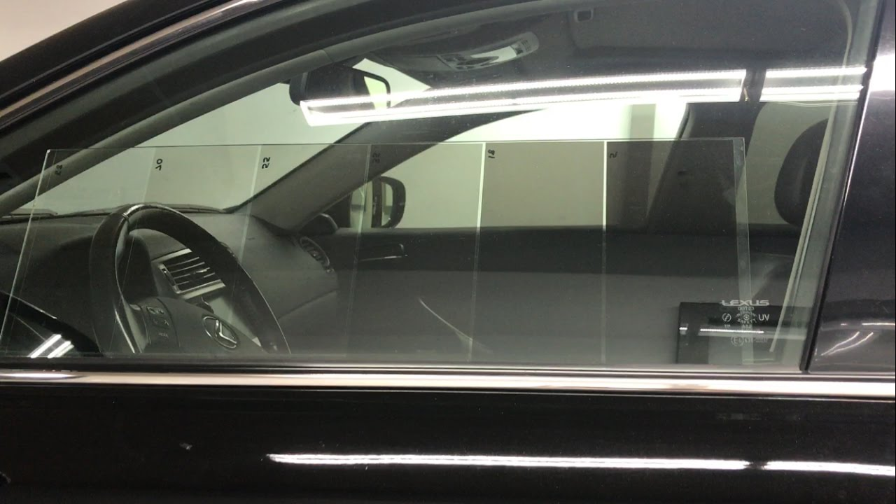 Compare window tint on car from outside inside 5 18 for 18 percent window tint