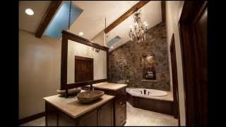 видео Искусственный камень в ванной комнате