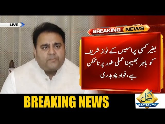 PMLN should not do politics on Nawaz Sharif's health and arrange for the surety bond: Fawad Chaudhry