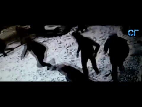 В Турции упал снег с крыши и завалил людей