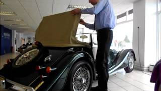 How to put a roof up and down on a Morgan