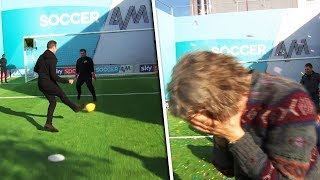 Jason McAteer vs Alan Davies | Penalty, volleys, free kick & crossbar challenge | Soccer AM Pro Am