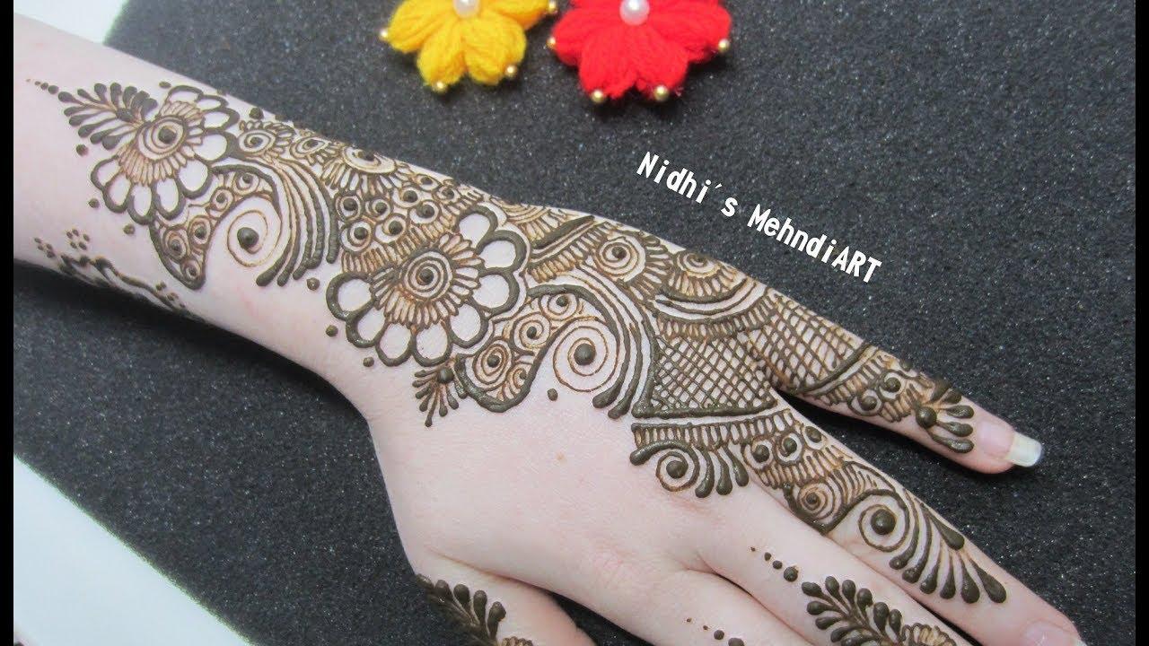 Arabic Mehndi Designs for Back Hand