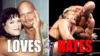 6 WWE Wrestlers Stone Cold Steve Austin He LOVES & 7 He HATES (Enemies) in Real Life