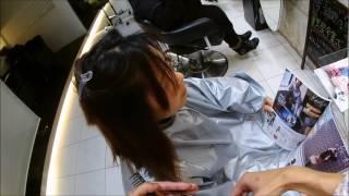 バッサリ女子の動画です。ほぼワンレングスベースでパーマをかけました...