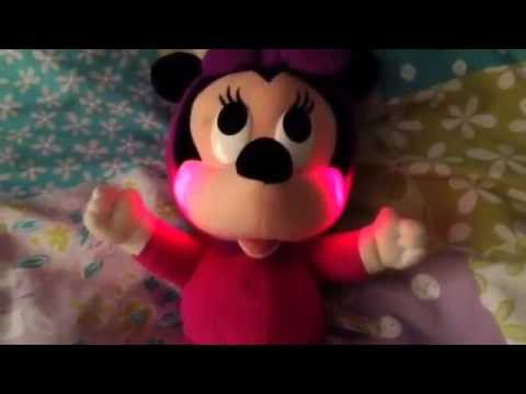 Minnie Mouse Musical Light Up Glowing Cheeks Children's Soft Toy Fisher Price Disney
