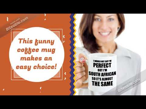 Funny South African Gift Idea South Africa Mug For Men Women Pride Quote I Am Perfect Gag Novelt