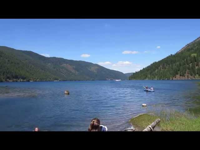 Water Bomber Landing On Sullivan Lake, WA