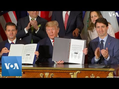New North American Trade Pact Signed