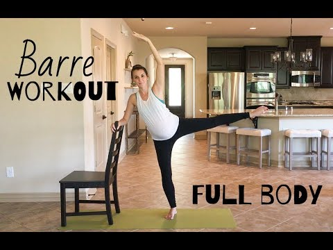 FULL BODY BARRE WORKOUT | 30 mins | Abs, Arms, Cardio, Legs, Butt