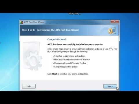 การติดตั้งโปรแกรม AVG Anti Virus