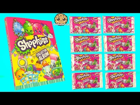 8 Shopkins Season 3 Surprise Collector Cards + Album And 12 Pack Unboxing With 2 Blind Bags