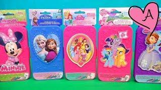 Cajitas de colorear de My Little Pony, Minnie, Princesas de Disney, Frozen y Princesa Sofia