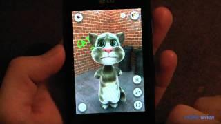 """Игра """"Talking Tom"""" на смартфоне LG Optimus One screenshot 1"""