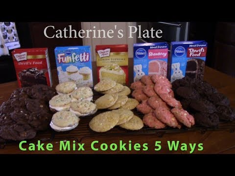 Cake Mix Cookies 5 Ways