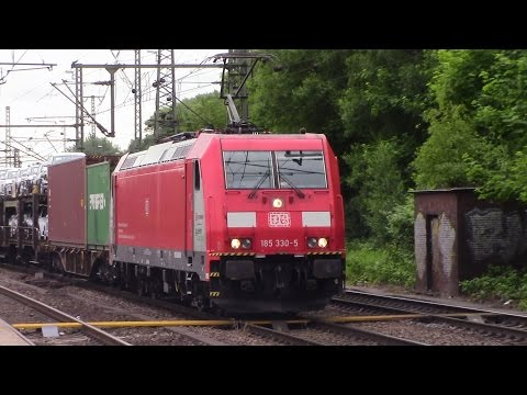 Intense Freight Train Action at Hamburg - Harburg, Germany -