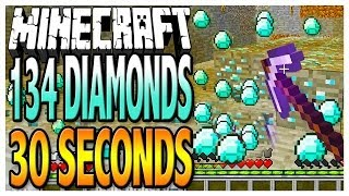 Easy Diamonds - 134 Diamonds in 30 Seconds with a Fortune 3 Diamond Pickaxe