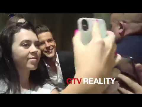 The Killers Brandon Flowers signing autographs on GTV Reality