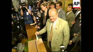 RUSSIA: COMMUNIST LEADER ZYUGANOV VOTES IN ELECTION