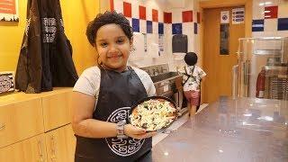 شفا اشتغلت في مطعم بيتزا وعطوها راتب !  في  كيدزانيا دبي