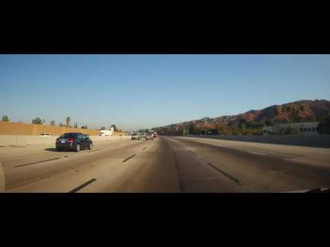 Driving from Downtown Los Angeles on Interstate 5 to Sylmar, CA