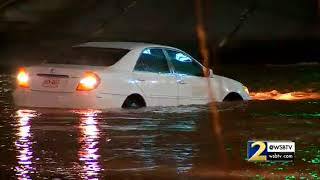 RAW VIDEO: Driver tries crossing flooded Buford Hwy. during water main break