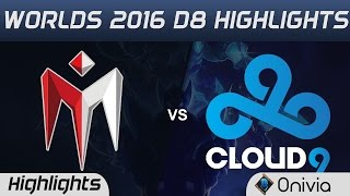 IM vs C9 Highlights Worlds 2016 D8 I May vs Cloud9