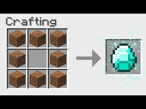 7 New Ways To Craft Diamonds In Minecraft!