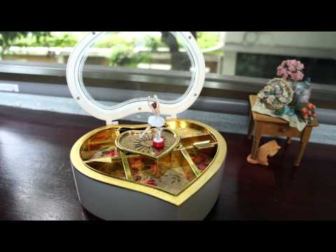 Music Box Ballet Heart Box - Castle in the sky