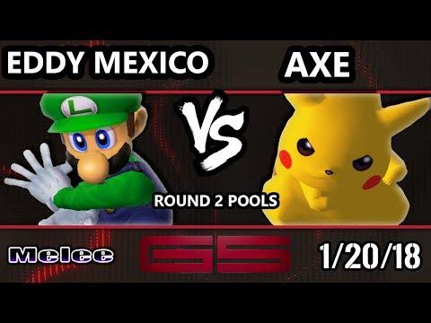 GENESIS 5 SSBM - Eddy Mexico (Luigi) VS Tempo | Axe (Pikachu) - Smash Melee Singles