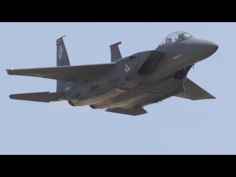 2011 California Capital Air Show - F-15E Strike Eagle Demo & Heritage Flight