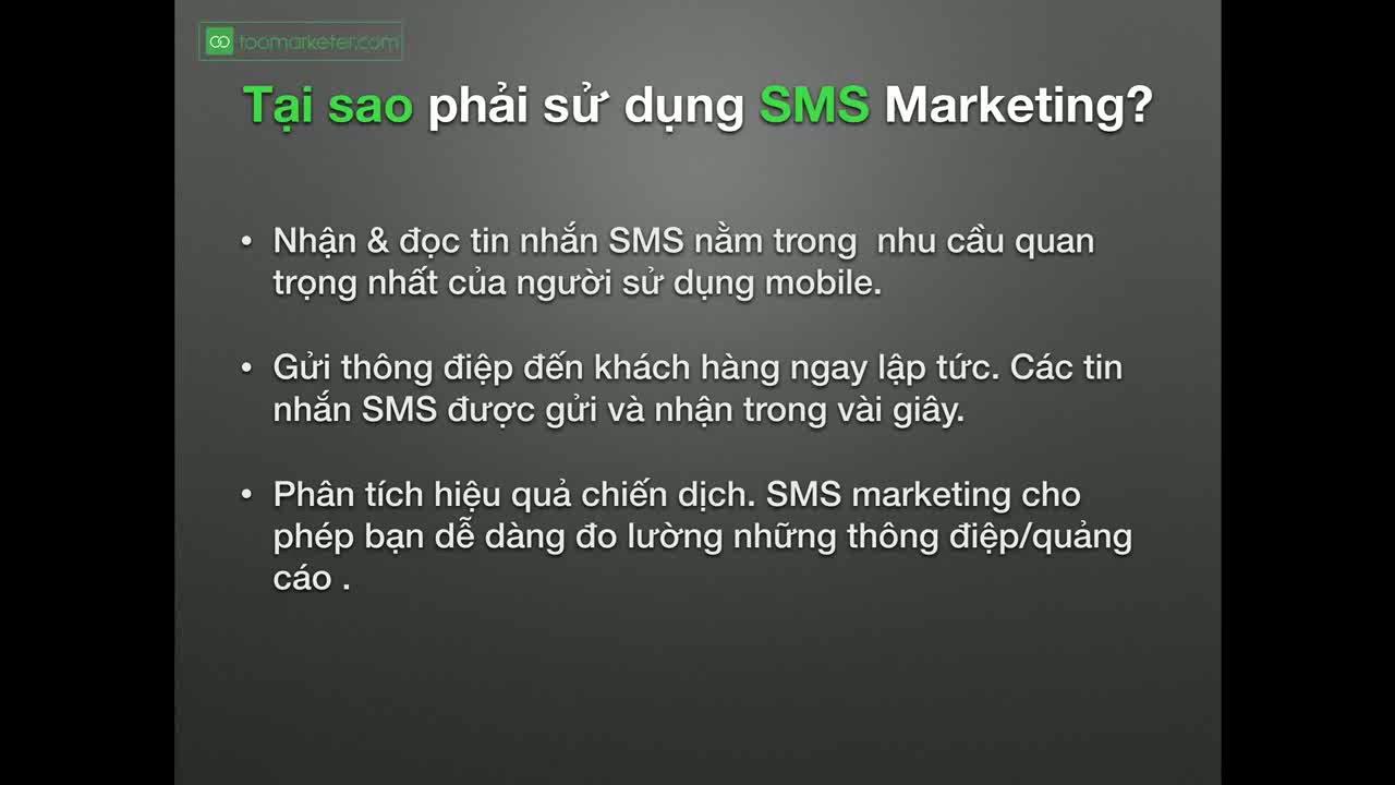 SMS Marketing là gì ?