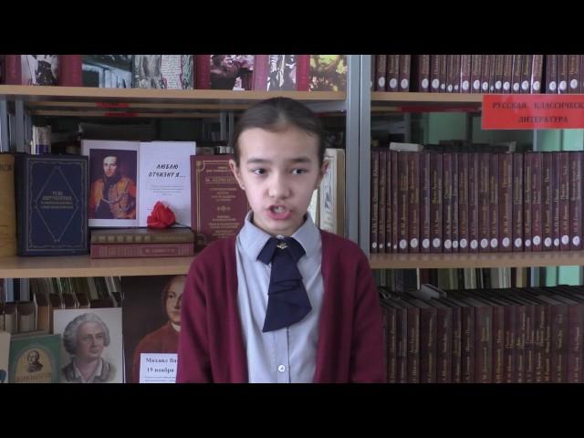 Изображение предпросмотра прочтения – АльфираШайлина читает отрывок изпроизведения «Бородино» М.Ю.Лермонтова