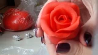 Мастер класс: Роза из солёного теста. Master class for modeling rose.