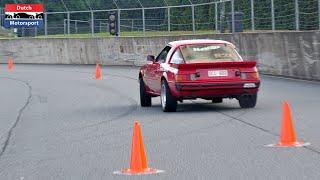 Ported Mazda RX-7 FB on Slalom Track!