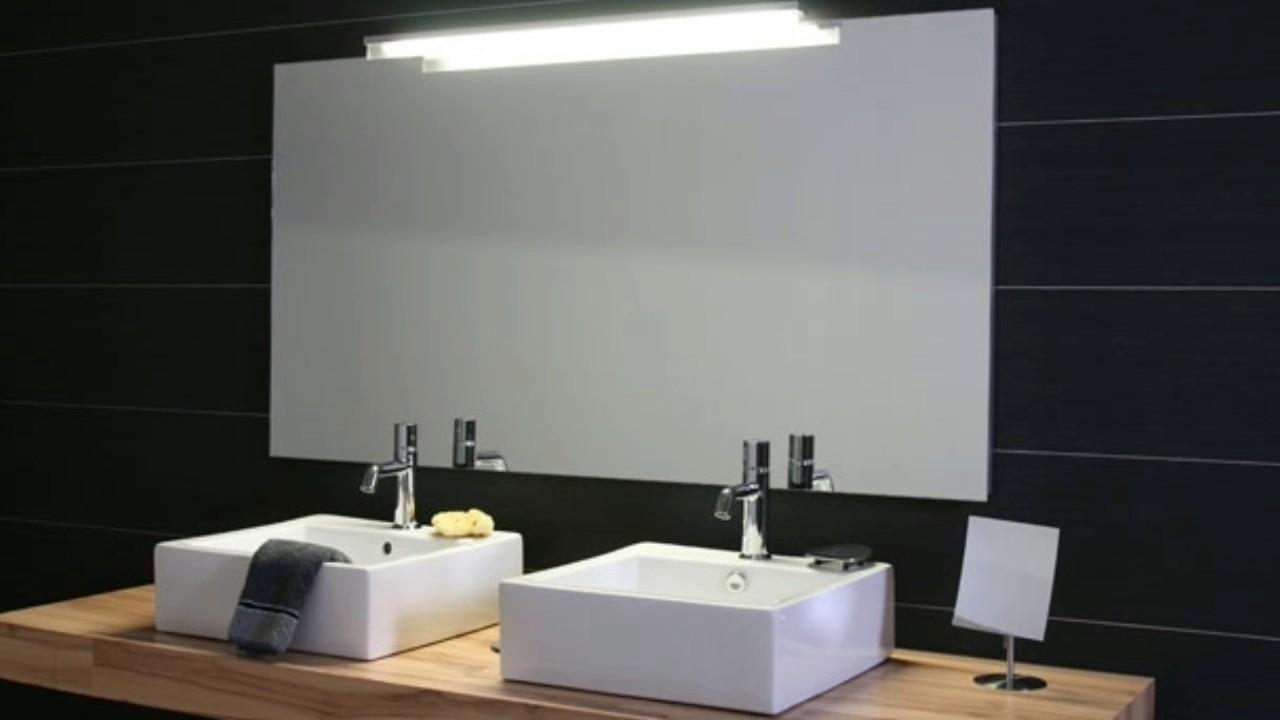 Badezimmer spiegel beleuchtung youtube for Spiegel ablage badezimmer