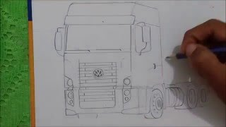 Desenhando caminhão VW constellation