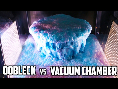 Thumbnail: What happens to 1 gallon of Oobleck in an Acrylic Vacuum Chamber