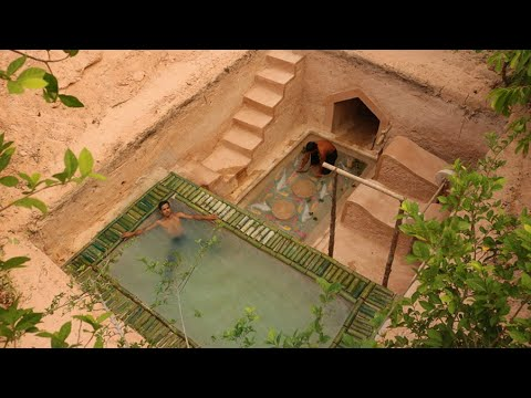 90 Day Of  Build Groundwater Well ,House ,Gym Fish Pond And Millionaire Underground Swimming Pool