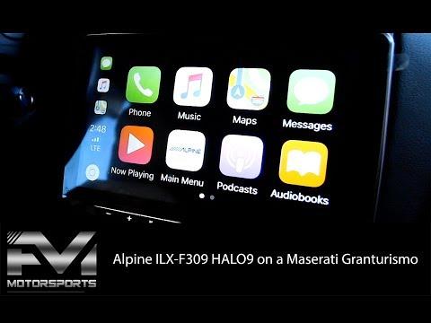 installing-the-new-alpine-ilx-f309-halo9-on-a-maserati-granturismo