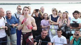 БЕЛЫЙ МАЛЫШ против Жесткого Узбека !!! Крутой бой !!!!