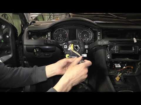 Снятие ленточного механизма SRS VW Jetta 6