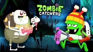 ВЕЛИКИЙ СЕТЕМЕТАТЕЛЬ! ОХОТА на ЗОМБИ ПУХЛЯЧКОВ Мультик Игра для детей Zombie Catchers