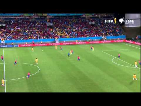 Chile vs Australia (3 1) partido completo fifa world cup Brazil 2014 group b